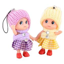 10pcs Kids Toys Soft Interactive Baby Dolls Toy Mini For Gir