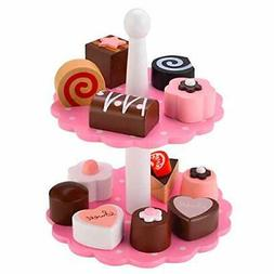 12 Mini Desserts Wooden Play Set for Kids Pretend Play great