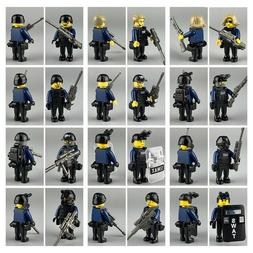 12 SWAT Police Minifigures Compatible with Lego Minifigs Mil
