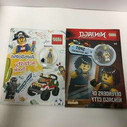 2 Lego Activity Books with Mini Figures, Ninjago and Pirate,