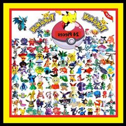 24 PCS MINI POKEMON ACTION FIGURE FIGURINE CAKE TOPPER PARTY