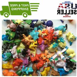 24Pcs Cute Pokemon Mini Random Action Cake Toppers Figures K