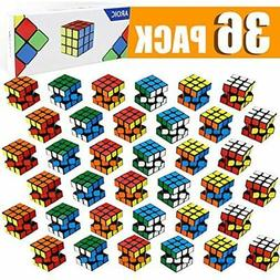 36 Packs Mini Cube,Puzzle Party Toy,Eco-Friendly Material Wi