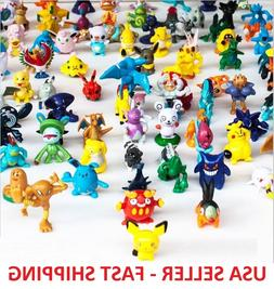 50 pcs Pokemon Monster Mini Figures Cake Toppers Party Favor