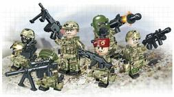 6 Army Minifigures Russian Soldiers - Compatible with LEGO M