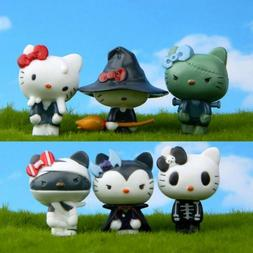 6ps Mini Ghosts Hello kitty Anime action figure  PVC Toy Cak