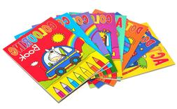 8 X A6 Mini Colouring Books For Kids Party Bags Fillers Boys