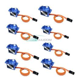 8PCS Mini Micro Servo 9G SG90 For RC Robot Helicopter Airpla