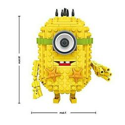 A Cute Yellow Mini Figure Character Building Bricks Toy Sets