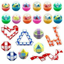 Anditoy 12 Pack Easter Eggs With Mini Snake Cube Inside Puzz