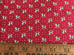 Cotton Quilt Manes Fabric Rocking Horse Toy Red Green Mini P