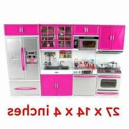Mini Kitchen Toy Battery Operated Cooking Play Set Gift for