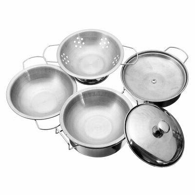 18pcs Steel Kitchen Play For Cookware