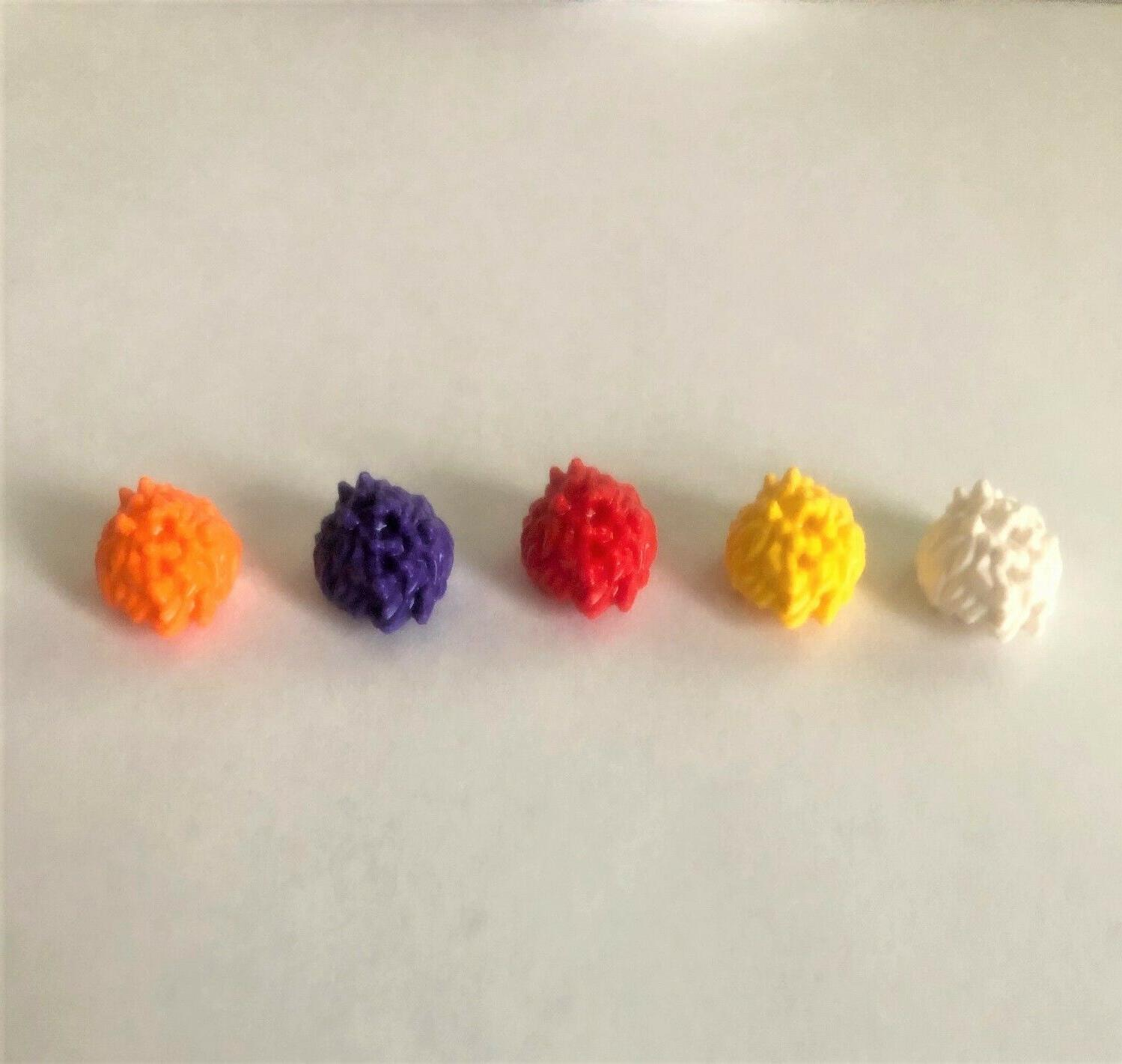 assorted color x 5 spiked hair