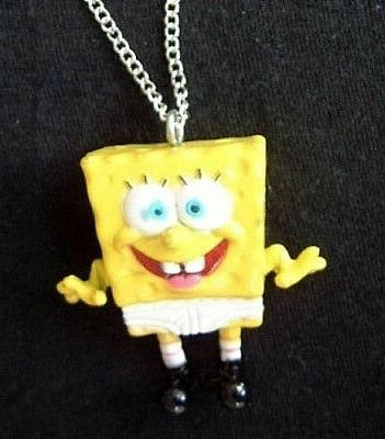funky rare spongebob underpants necklace funny character