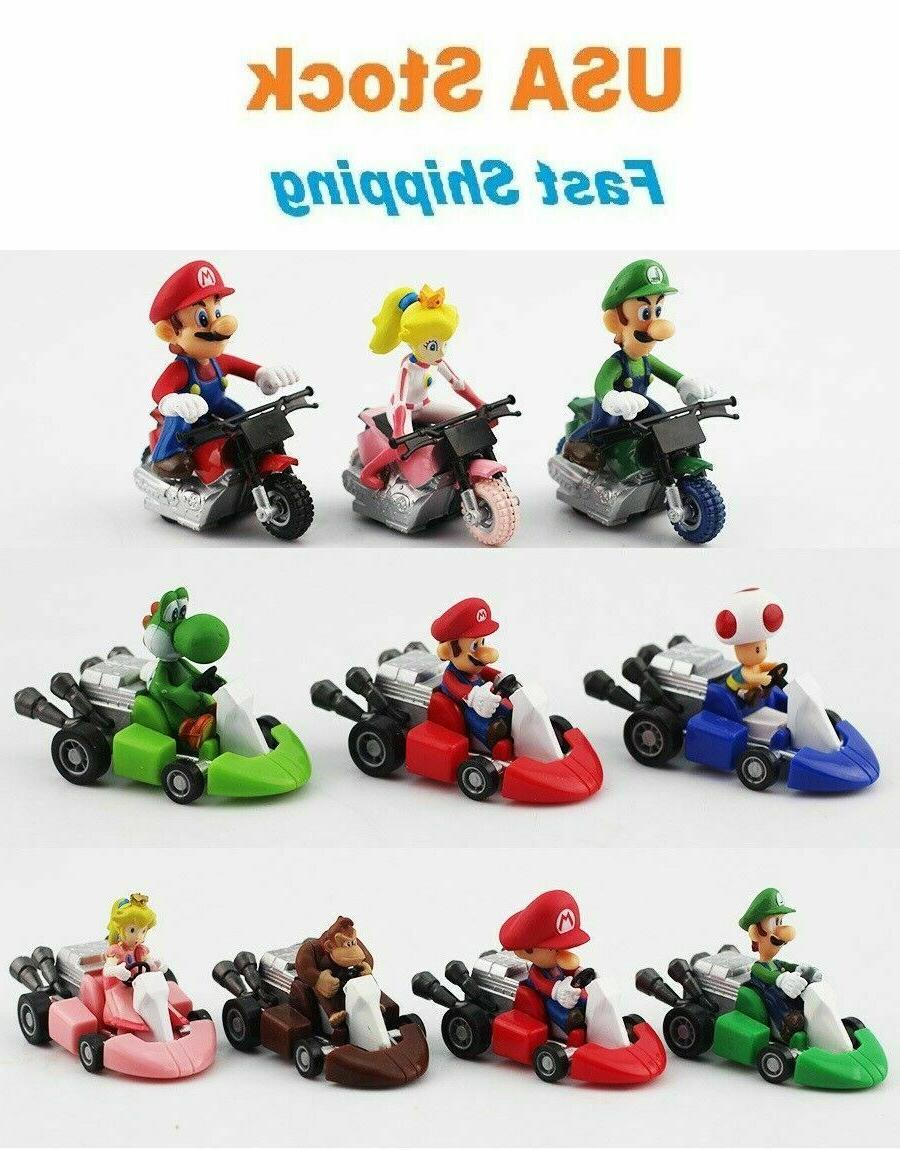 Super Mario Mini Collection Sets, Karts, Cake Toppers