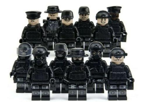 police swat minifigures minifigs police military cops