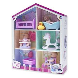 """JC Toys Lots to Love Babies - With 3 5"""" Vinyl Dolls, 6 Acces"""