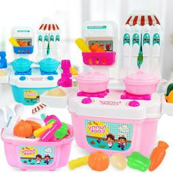 Mini Kids Pretend Cooking Playset Kitchen Toys Cookware Play
