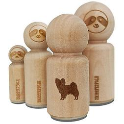 Papillon Continental Toy Spaniel Dog Solid Rubber Stamp for
