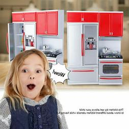 Pretend Play Kitchen Set for Kids Mini Role Play Food Cookin