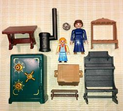 R2~PLAYMOBIL Pick 1~LADY~GIRL~TABLE~BENCH~CRATE~WOOD STOVE~S