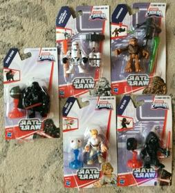 HASBRO STAR WARS GALACTIC HEROES MINI FIGURE SET  SEALED NEW