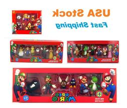 super mario mini 6 figures collection sets