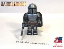 The Mandalorian minifigure with beskar armor compatible with