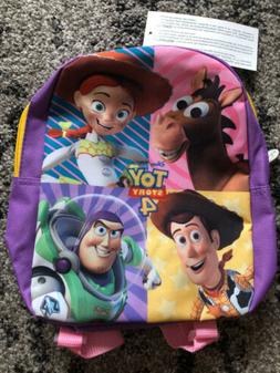 """Disney Toy Story 4 10"""" Mini Backpack - Toy Action Purple Pin"""
