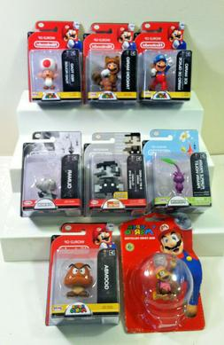 World of Nintendo Mini Figures:DIXIE,ICE MARIO,TANOOKI MARIO