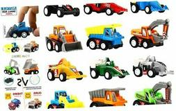 Yeonha Toys Pull Back Vehicles, 12 Pack Mini Assorted Constr